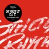 Strictly Dj T, 25 Years of Strictly Rhythm, roter hintergrund, Album Cover, Schwarzer Kreis