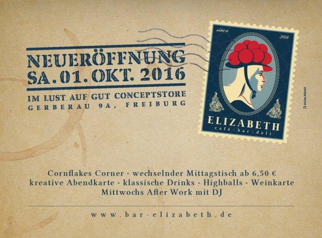 neuer ffnung in freiburg elizabeth caf bar deli freiburg. Black Bedroom Furniture Sets. Home Design Ideas