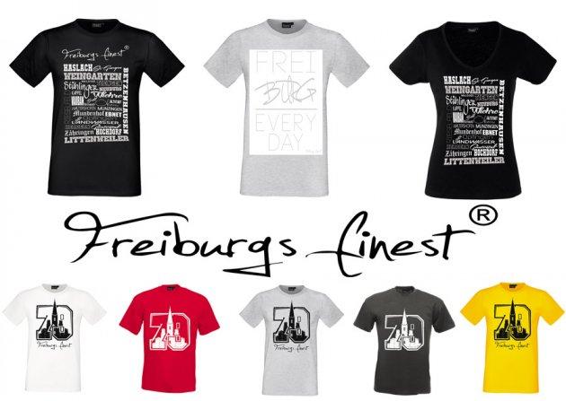 Shirts, T-Shirts, Freiburg, Finest, Freiburgs Finest, Stasteil Shirt, Freiburg Everyday, Stadteil Girls, 79 Kollektion, weiße Shirts, rotes Shirt, graues Shirt, gelbes Shirt