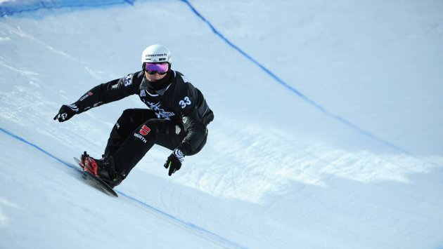 Snowboard, Cross, Strecke, Piste, Track, Race, Man, Glasses, Helmet, Helm