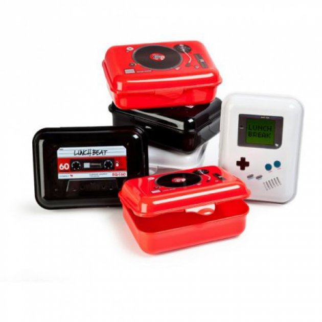 Lunchbeat, Butterbrot Dosen, Game Boy, Lunch Box, Turntable Lunch Box, Rote Lunch Box, Schwarze Lunchbox, Lunch Break