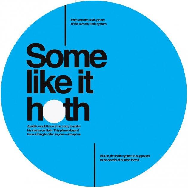 Typo, Some like it hoth, blauer Kreis, weiße Fläche
