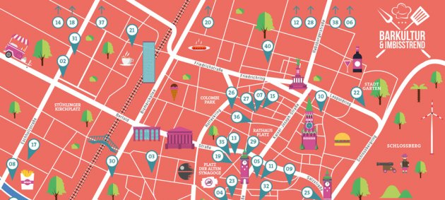 barkultur, Imbisstrend, subculture, Magazine, Map, Karte, Index, Freiburg, Dreisam, Münster, Barführer, Restautrant, Bar, Kneipe, Lokal, Tipp