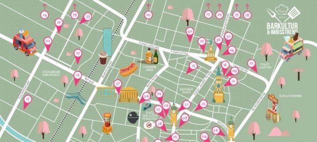 Barkultur, Imbisstrend, Freiburg, Map, Karte, Customized, DIY, Gastro, Kneipe, Restaurant