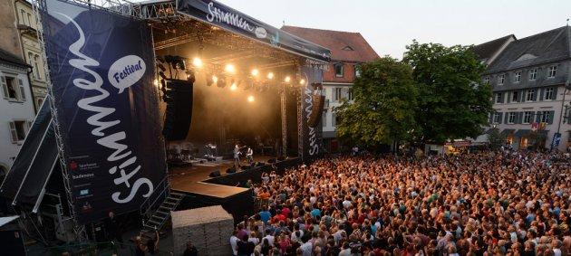 Stimmen, Lörrach, Loerrach, Menschen, Konzert, Bühne, Bäume, Open Air, Festival, Innenstadt